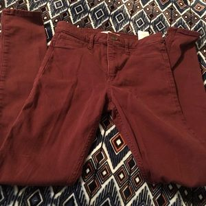 Abercrombie & Fitch Maroon Jegging